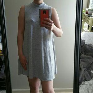 Mock neck sweater tank swing dress